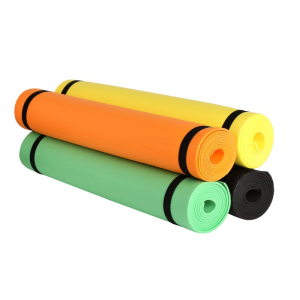 Professional lightweight travel yoga mat with elastic bands